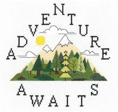 click here to view larger image of Adventure Awaits - Kristianna Bond (counted cross stitch kit)