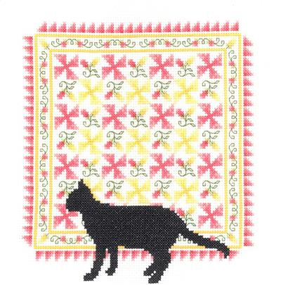 click here to view larger image of Spring Quilt - Pamela Kellogg (counted cross stitch kit)
