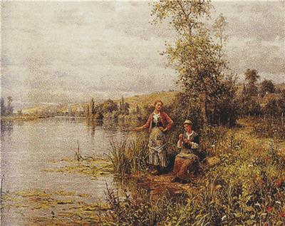 click here to view larger image of Country Women Fishing on a Summer Afternoon (chart)