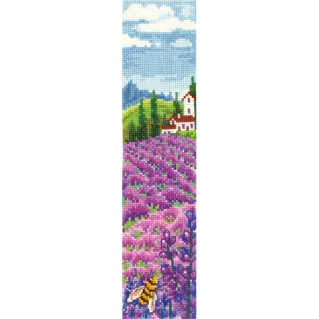 click here to view larger image of Bookmark - Lavender Fields (counted cross stitch kit)
