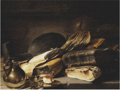 click here to view larger image of Still Life with Books (Jan Lievens) (chart)