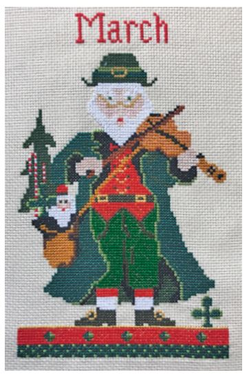 click here to view larger image of March Santa - Kit (counted cross stitch kit)