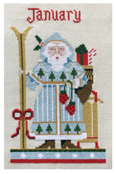 click here to view larger image of January Santa - Kit (counted cross stitch kit)