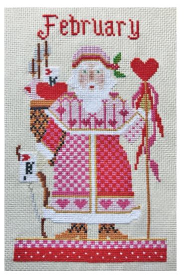 click here to view larger image of February Santa - Kit (counted cross stitch kit)