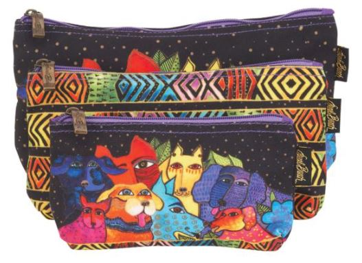 click here to view larger image of Canine Clan Stacked - Cosmetic Bags (accessory)