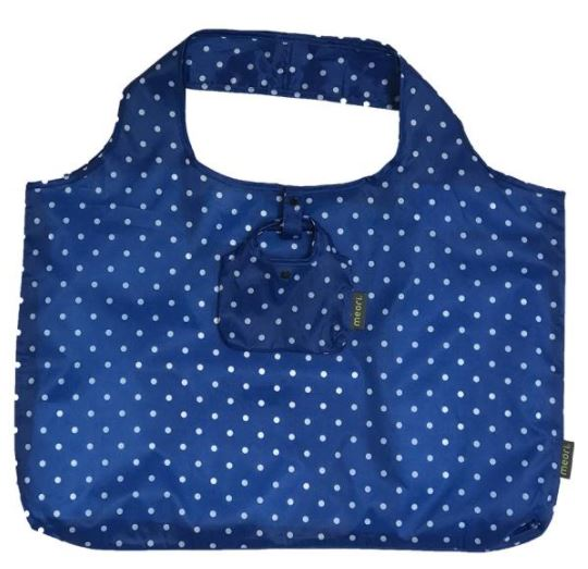 click here to view larger image of Reusable Pocket Shopper - Classic Blue Dots (accessory)