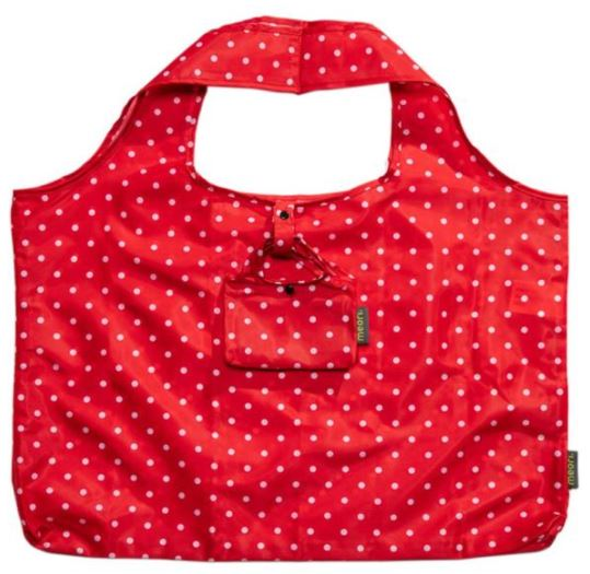 click here to view larger image of Reusable Pocket Shopper - Hibiscus Red Dots (accessory)
