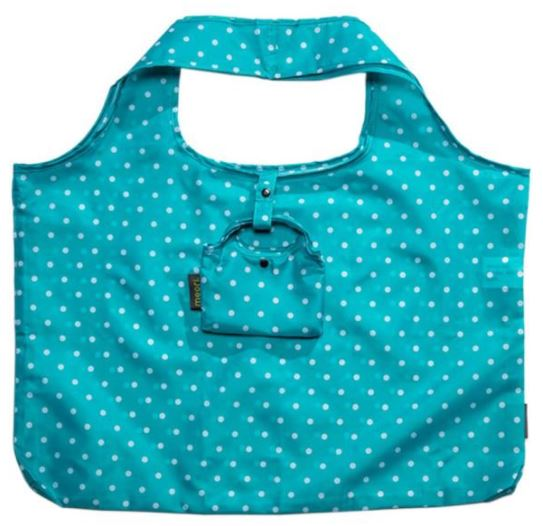 click here to view larger image of Reusable Pocket Shopper - Azure Blue Dots (accessory)