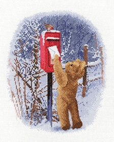 click here to view larger image of  Christmas Post (counted cross stitch kit)