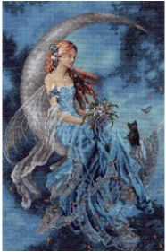 click here to view larger image of Wind Moon Fairy (Pre-order) (counted cross stitch kit)