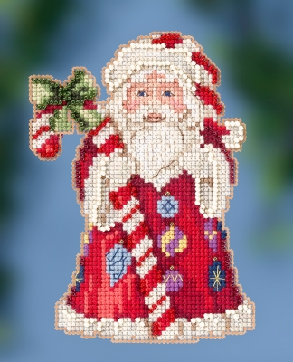 click here to view larger image of Candy Cane Santa (counted cross stitch kit)