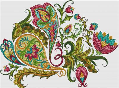 click here to view larger image of Decorative Paisley (chart)