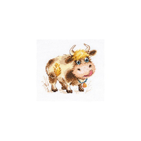 click here to view larger image of Baby Bull (counted cross stitch kit)