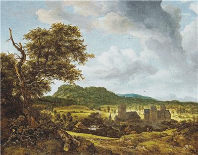 click here to view larger image of Landscape with a Village (chart)