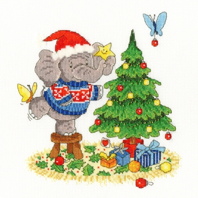 click here to view larger image of A Merry Elly Christmas - Elly (counted cross stitch kit)
