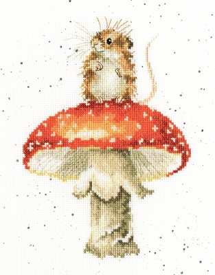 click here to view larger image of He's a Fun-gi - Hannah Dale (counted cross stitch kit)