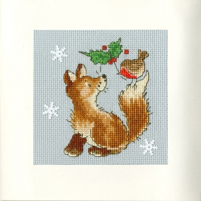 click here to view larger image of Christmas Friends - Margaret Sherry (counted cross stitch kit)