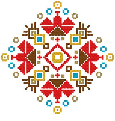 click here to view larger image of Colorful Ornament (chart)