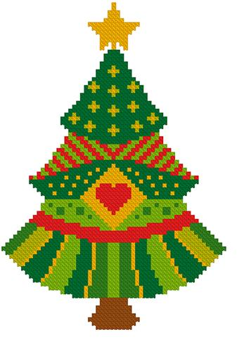 click here to view larger image of Colorful Christmas Tree (chart)