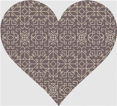 click here to view larger image of Brown Geometric Heart (chart)