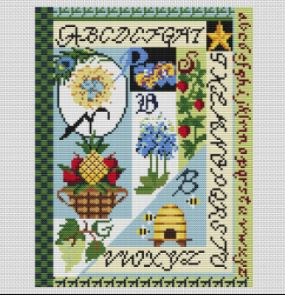 click here to view larger image of Chaparral Alphabet (counted cross stitch kit)