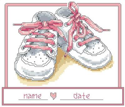 click here to view larger image of Baby Girl Shoes (chart)