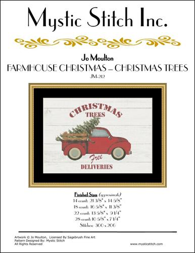 click here to view larger image of Farmhouse Christmas - Christmas Trees (chart)