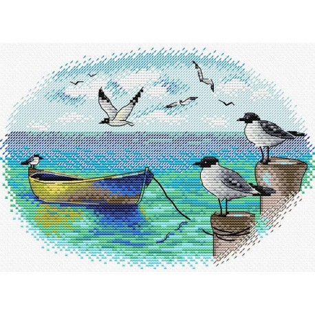 click here to view larger image of At the Pier (counted cross stitch kit)