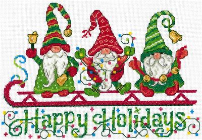 click here to view larger image of Happy Holiday Gnomes - Ursula Michael (chart)