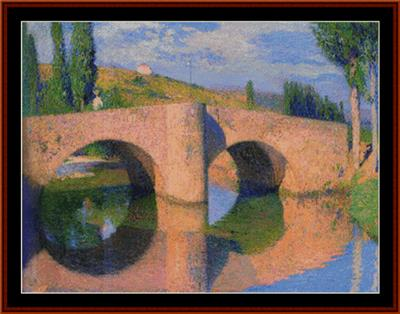 click here to view larger image of Bridge at Labastide II - Henri Martin (chart)