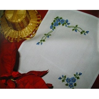 click here to view larger image of Blue Flowers (2 Napkins) (counted cross stitch kit)