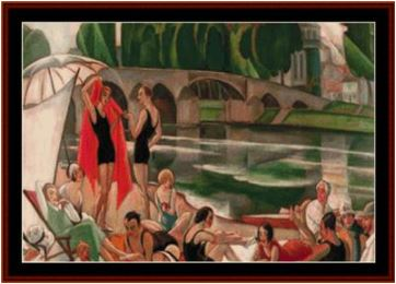 click here to view larger image of Banks of the River Loire - Gerda Wegener (chart)
