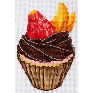 click here to view larger image of Cake (counted cross stitch kit)
