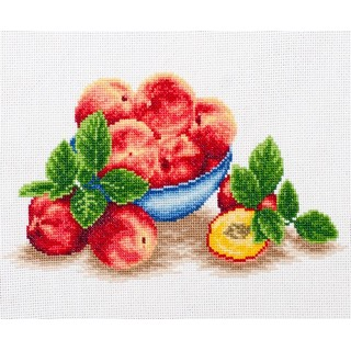 click here to view larger image of Peach Blues (counted cross stitch kit)