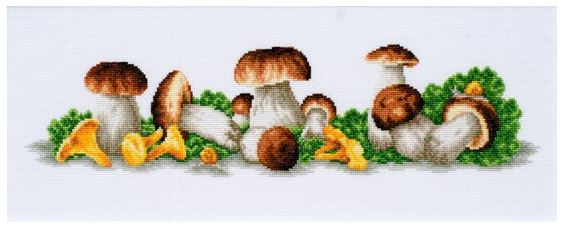 click here to view larger image of Mushroom Boom (counted cross stitch kit)