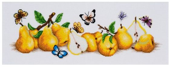 click here to view larger image of Pear Boom (counted cross stitch kit)