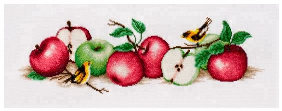 click here to view larger image of Apple Boom (counted cross stitch kit)