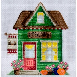 click here to view larger image of Delicacies House (counted cross stitch kit)