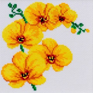 click here to view larger image of Orchid (counted cross stitch kit)