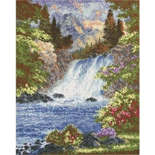click here to view larger image of Mountain Waterfall (counted cross stitch kit)