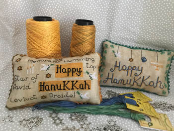 click here to view larger image of Happy Hanukkah Pillows (chart)