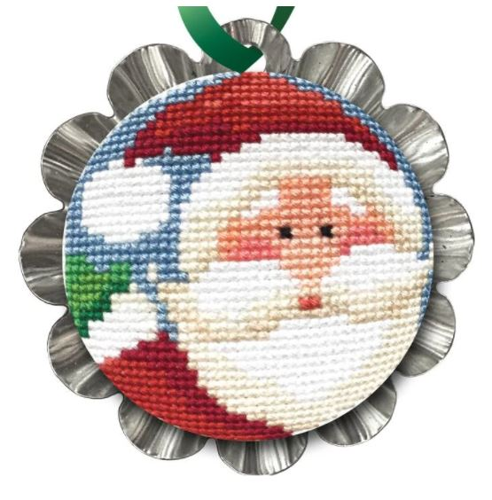 click here to view larger image of Jolly Santa Tin Kit (counted cross stitch kit)