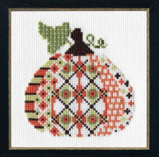 click here to view larger image of Patterned Pumpkin 1 (counted cross stitch kit)