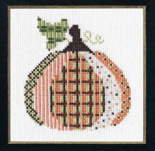 click here to view larger image of Patterned Pumpkin 3 (counted cross stitch kit)