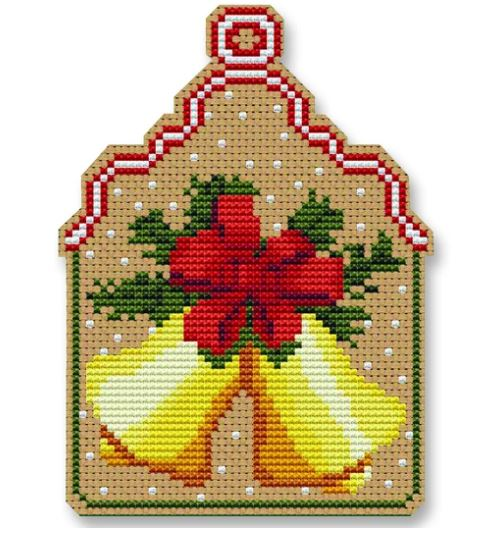 click here to view larger image of Christmas Bells Ornament (counted cross stitch kit)