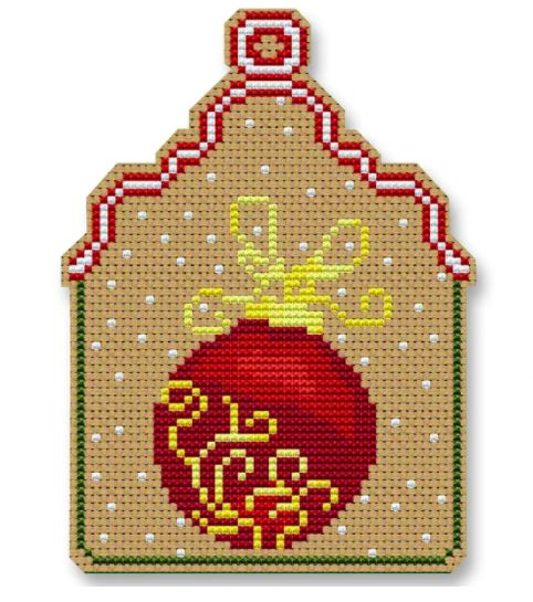 click here to view larger image of Christmas Ball Ornament (counted cross stitch kit)