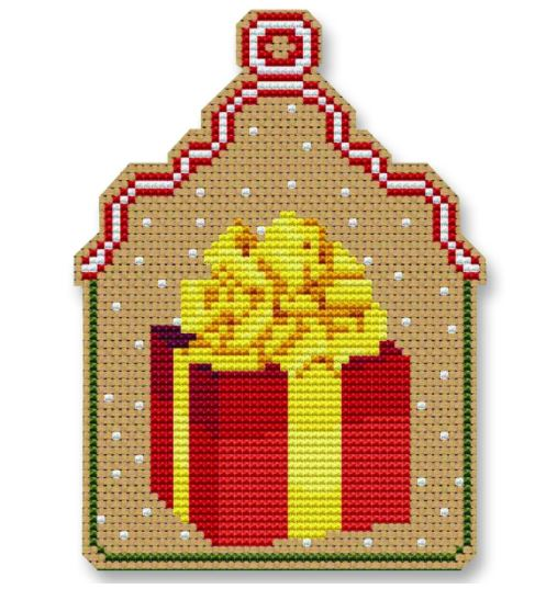 click here to view larger image of Christmas Gift Ornament (counted cross stitch kit)