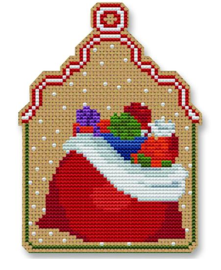 click here to view larger image of Christmas Sack Ornament (counted cross stitch kit)
