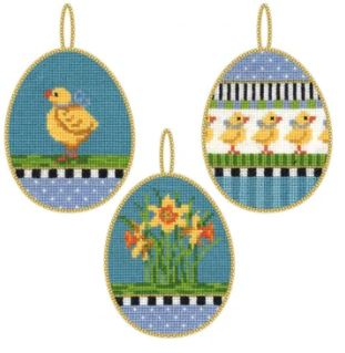 click here to view larger image of Easter Eggs 3 Kit (counted cross stitch kit)