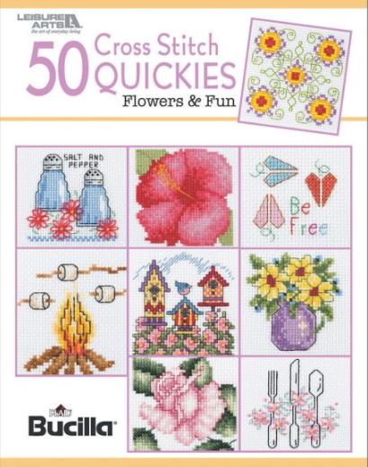 click here to view larger image of 50 Cross Stitch Quickies Flower and Fun (chart)